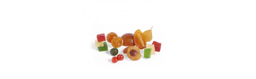 Candied/glazed fruits