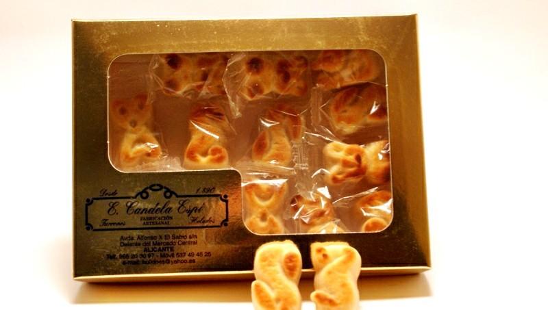 Caja de figuritas de mazapán 400 g.