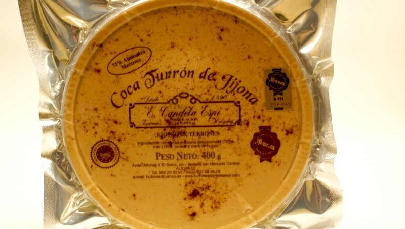 Torta crema Turrón de jijona 400 g.