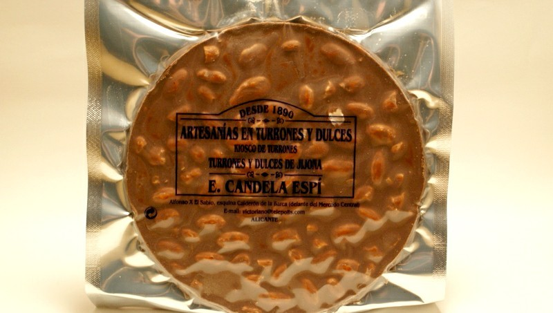Torta Turrón chocolate con leche 200 g.