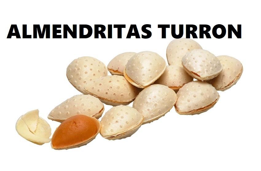 Cajita de almendritas rellenas de Turrón a la piedra 250 g./500g/1K